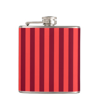 Thin Stripes - Light Red and Dark Red Flask
