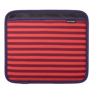 Thin Stripes - Light Red and Dark Red iPad Sleeve