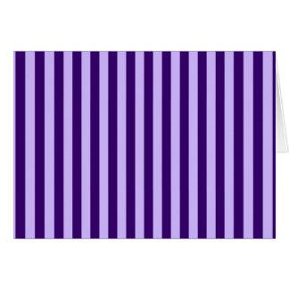 Thin Stripes - Light Violet and Dark Violet Card