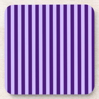 Thin Stripes - Light Violet and Dark Violet Coaster