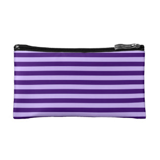 Thin Stripes - Light Violet and Dark Violet Cosmetic Bag
