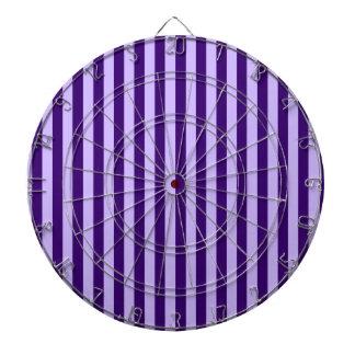 Thin Stripes - Light Violet and Dark Violet Dartboard