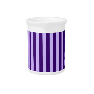 Thin Stripes - Light Violet and Dark Violet Drink Pitcher