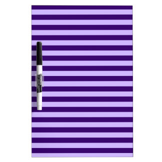 Thin Stripes - Light Violet and Dark Violet Dry Erase Board