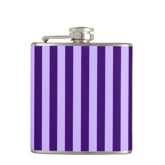Thin Stripes - Light Violet and Dark Violet Flask