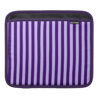Thin Stripes - Light Violet and Dark Violet iPad Sleeve