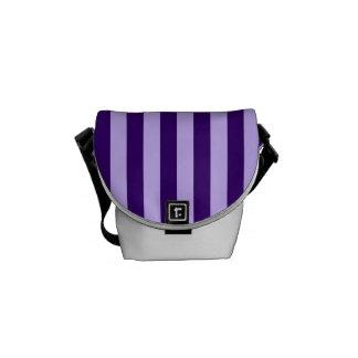 Thin Stripes - Light Violet and Dark Violet Messenger Bag