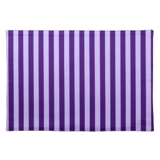 Thin Stripes - Light Violet and Dark Violet Place Mats