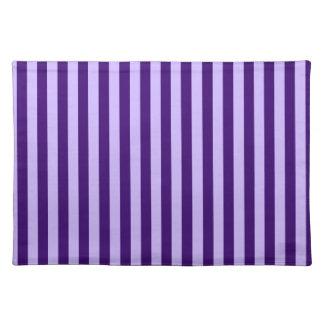 Thin Stripes - Light Violet and Dark Violet Placemat