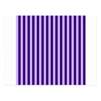 Thin Stripes - Light Violet and Dark Violet Postcard
