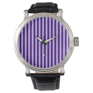 Thin Stripes - Light Violet and Dark Violet Watch