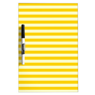 Thin Stripes - Light Yellow and Dark Yellow Dry Erase Board