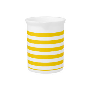 Thin Stripes - Light Yellow and Dark Yellow Pitcher