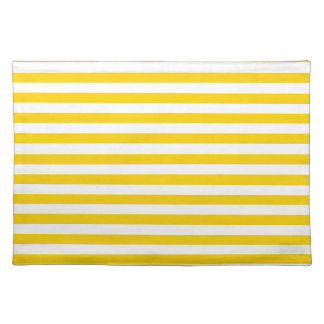 Thin Stripes - Light Yellow and Dark Yellow Place Mat