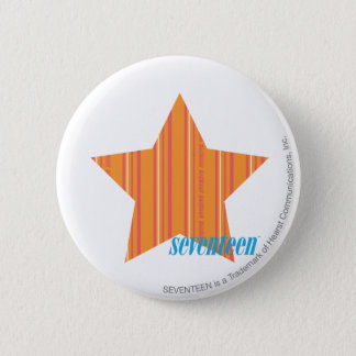 Thin Stripes Orange 4 6 Cm Round Badge