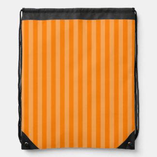 Thin Stripes - Orange and Dark Orange Drawstring Bag