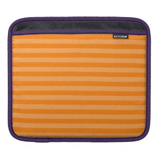 Thin Stripes - Orange and Dark Orange iPad Sleeve