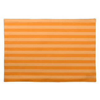 Thin Stripes - Orange and Dark Orange Place Mat