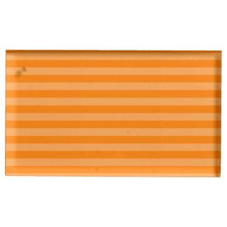 Thin Stripes - Orange and Dark Orange Table Card Holder