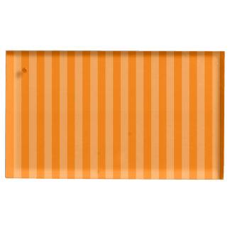 Thin Stripes - Orange and Dark Orange Table Card Holders