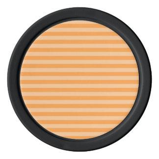 Thin Stripes - Orange and Light Orange Poker Chips