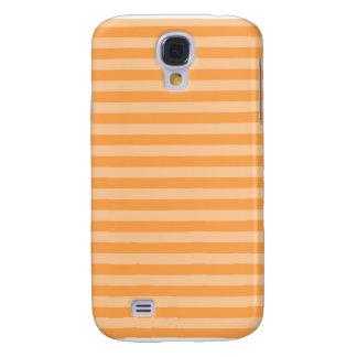 Thin Stripes - Orange and Light Orange Samsung Galaxy S4 Covers
