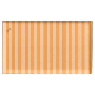 Thin Stripes - Orange and Light Orange Table Card Holder