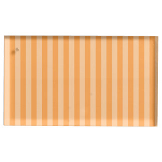 Thin Stripes - Orange and Light Orange Table Card Holders