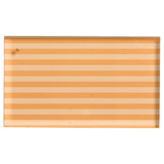 Thin Stripes - Orange and Light Orange Table Card Holders