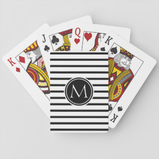 Thin Stripes Pattern Playing Cards