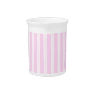 Thin Stripes - Pink and Light Pink Beverage Pitchers