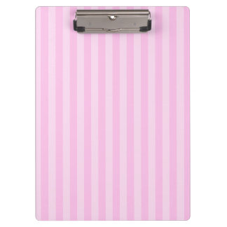Thin Stripes - Pink and Light Pink Clipboards