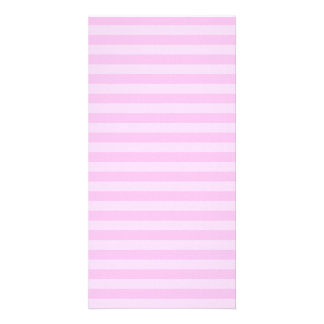 Thin Stripes - Pink and Light Pink Custom Photo Card