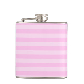 Thin Stripes - Pink and Light Pink Hip Flask