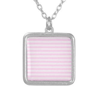 Thin Stripes - Pink and Light Pink Silver Plated Necklace