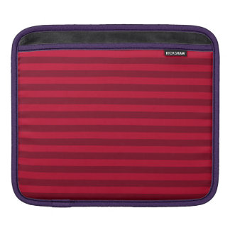 Thin Stripes - Red and Dark Red iPad Sleeve