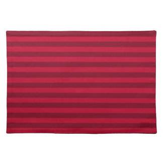 Thin Stripes - Red and Dark Red Placemats