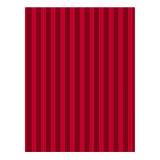 Thin Stripes - Red and Dark Red Postcard