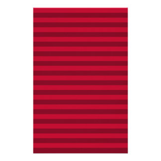 Thin Stripes - Red and Dark Red Stationery