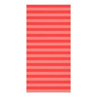 Thin Stripes - Red and Light Red Customised Photo Card