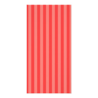Thin Stripes - Red and Light Red Photo Greeting Card