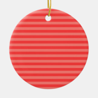 Thin Stripes - Red and Light Red Round Ceramic Decoration