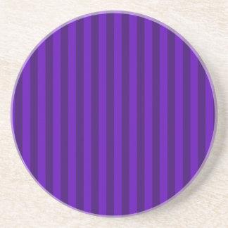 Thin Stripes - Violet and Dark Violet Coaster