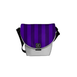 Thin Stripes - Violet and Dark Violet Commuter Bags