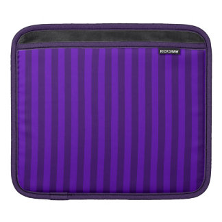 Thin Stripes - Violet and Dark Violet iPad Sleeve