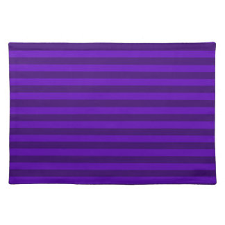 Thin Stripes - Violet and Dark Violet Placemat