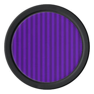 Thin Stripes - Violet and Dark Violet Poker Chips