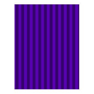 Thin Stripes - Violet and Dark Violet Postcard