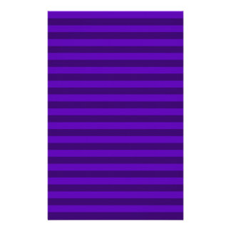 Thin Stripes - Violet and Dark Violet Stationery