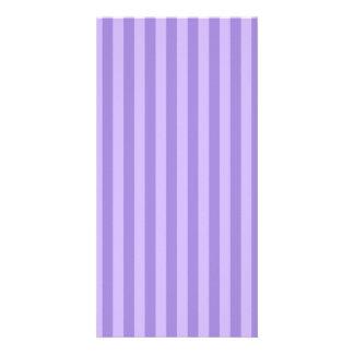 Thin Stripes - Violet and Light Violet Card